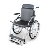 Wheelchair on a white background. 3d render image.  Stock Photos