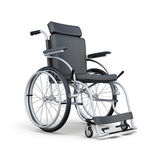 Wheelchair  on white background. 3d rendering.  Royalty Free Stock Images