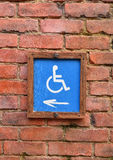 Wheelchair wooden sign Royalty Free Stock Image