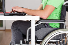 Wheelchair worker Royalty Free Stock Photos