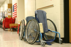 Wheelchairs. Wheelchair for children Royalty Free Stock Photography