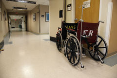 Wheelchairs And Hallway Stock Images