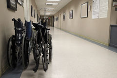 Wheelchairs and hallway Stock Photos