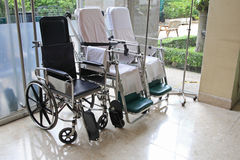 Wheelchairs in the hospital Royalty Free Stock Photography