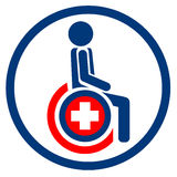 Wheelchairs icon Stock Photography