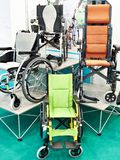 Wheelchairs for disabled people stock photos
