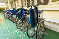 Wheelchairs. For patient in the hospital Stock Photos