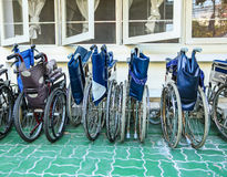 Wheelchairs. For patient in the hospital Royalty Free Stock Photography