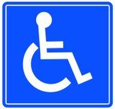 wheelchar tecken royaltyfri illustrationer