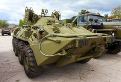 Wheeled armored recovery vehicle based on the BTR-80 Royalty Free Stock Photos
