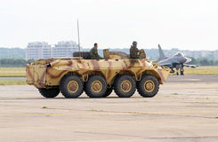 Wheeled armoured personnel carrier military vehicle Stock Photos
