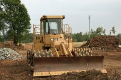 Wheeled bulldozer Royalty Free Stock Images