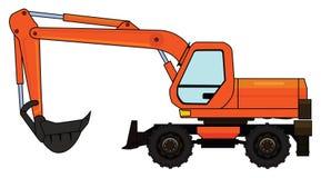 Wheeled excavator Royalty Free Stock Photography