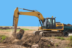 Wheeled Excavator Royalty Free Stock Photo