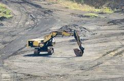Wheeled excavator in mine Stock Image