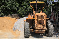 Wheeled excavator Stock Photo