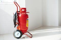 Wheeled fire extinguisher Stock Photos