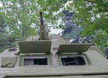 Infantry fighting vehicle. Wheeled floating armored personnel carrier BTR royalty free stock image