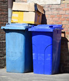 Wheeled garbage cans Royalty Free Stock Image