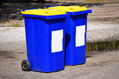 Wheeled garbage cans Stock Photos