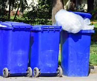 Wheeled garbage cans Royalty Free Stock Images