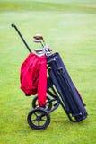 Wheeled golf bag Stock Photos