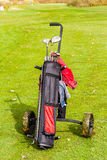 Wheeled golf club bag Royalty Free Stock Image