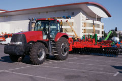 Wheeled modern tractor Stock Image