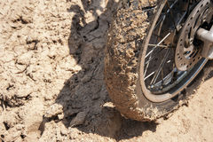 Wheeled  with mud. Stock Photo