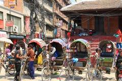 3 wheeled rickshaws waiting for customers Stock Photography