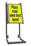 Wheeled sign-board royalty free stock photos