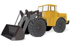 Wheeled Tractor Royalty Free Stock Photography