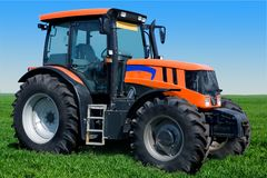 Wheeled tractor Royalty Free Stock Photo