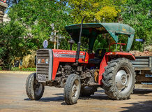 Wheeled tractor inside  Meenakshi Temple Stock Photography