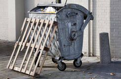 Wheeled Trash container Stock Image