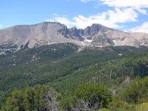 Wheeler Peak en el parque nacional del gran lavabo, Nev Imagen de archivo