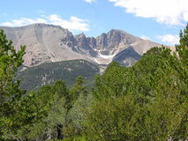 Wheeler Peak en el parque nacional del gran lavabo, Nev Fotografía de archivo libre de regalías