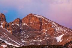 Wheeler Peak. Morning Alpenglow On Wheeler Peak, Snake Mountains, Great Basin National Park, Nevada Royalty Free Stock Images