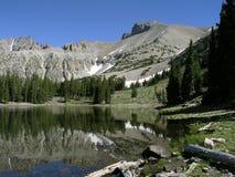 Wheeler Peak nella sosta nazionale del grande bacino Fotografia Stock