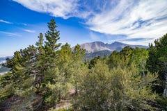Wheeler Peak nella sosta nazionale del grande bacino Fotografia Stock Libera da Diritti
