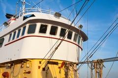 Wheelhouse of a Dutch fishing cutter Stock Images