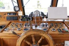 wheelhouse för broflygship Royaltyfri Foto
