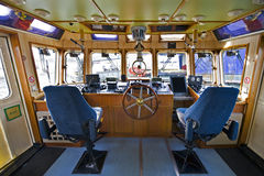 The wheelhouse of a fire boat Royalty Free Stock Images