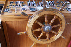 Wheelhouse (flying bridge, Bridge of a ship) Stock Images