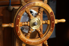 Wheelhouse (flying bridge, Bridge of a ship) Stock Image