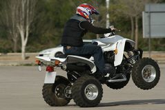 wheelie квада Стоковое фото RF