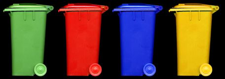 Wheelie bin Royalty Free Stock Images