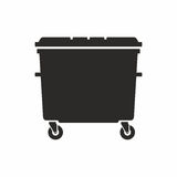 Wheelie bin. Vector icon isolated on white background Royalty Free Stock Photography