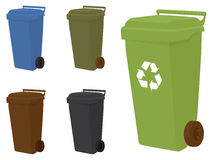Wheelie bins Royalty Free Stock Image