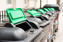 Wheelie bins Stock Photos